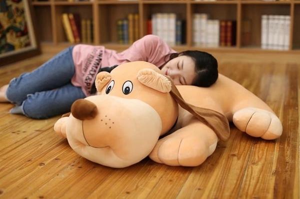 【55公分】大耳狗娃娃 趴趴狗 枕頭靠墊抱枕睡覺枕 居家裝潢布置 生日禮物 聖誕禮物 交換禮物