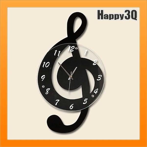 音符時鐘音樂時鐘客廳掛鐘時尚音樂家鋼琴房客廳鐘錶創意鐘錶房間設計【AAA3104】預購