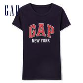 Gap女裝 LOGO城市主題簡潔風格短袖T恤 260202-海軍藍色