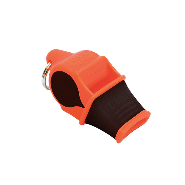 Sonik blast CMG 軟膠口哨/附繩A.B.S『橘/黑』FOX9203 戶外 求生哨 高頻 口哨 地震 救生哨 高分貝