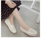 洞洞鞋夏季淺口平底塑膠涼鞋女護士工作鞋包頭沙灘豆豆鳥巢鏤空洞洞套鞋 伊蘿 99免運