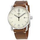 FOSSIL RUNWAY簡約時標時尚皮革腕錶(FS5275)-米白x44mm