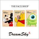 韓國 The face shop X Disney 迪士尼 保濕 面膜 限量 米奇 大眼怪 小熊維尼 (25g/片) DreamSky