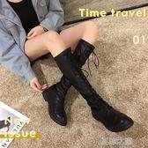 長靴女-過膝靴新款秋季靴子ins百搭粗跟長筒秋款高筒騎士靴潮 現貨快出