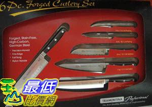 [COSCO代購]COSCO TRAMONTINA 專業高級碳鋼鍛造刀具 六件組  C276976 $3279