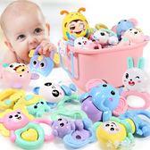 嬰兒搖鈴新生兒童玩具3-6-12個月益智手搖鈴女寶寶軟膠男孩0-1歲HM 金曼麗莎
