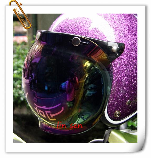 林森●強化耐磨泡泡鏡(含架),復古帽半罩三顆扣子專用 ,通用型鏡片/電彩