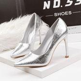 格紋秋鞋春季新款歐美風尖頭鞋顯瘦細跟高跟鞋時尚單鞋女鞋子  米蘭 shoe