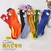 大眼睛襪子女中筒襪秋冬堆堆襪女可愛日系ins長襪女潮網紅款韓國