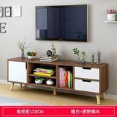 北歐電視柜茶幾組合現代簡約小戶型實木電視機柜簡易客廳臥室地柜【樂享生活館】liv