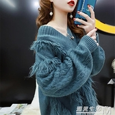 慵懶風套頭毛衣女秋季新款寬鬆韓版很仙的網紅百搭外穿針織衫 聖誕節全館免運