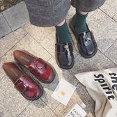大頭鞋女正韓學生原宿風ulzzang小皮鞋日系軟妹方扣娃娃單鞋百搭  茱莉亞嚴選