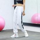 運動褲 速干運動褲女夏秋新款寬鬆休閒束腳瑜伽薄款透氣跑步訓練健身長褲