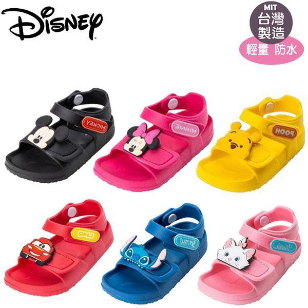 正版Disney迪士尼米奇米妮 維尼 CARS 史迪奇 雙調整輕便軟Q防水涼鞋.童鞋.14-18號~EMMA商城