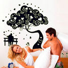 無痕夜光壁貼 樹下的情侶 螢光貼 壁貼樹《生活美學》