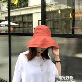 chic網紅大帽檐雙面戴漁夫帽日系遮陽百搭棉麻盆帽子潮 陽光好物