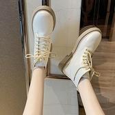 馬丁靴白色馬丁靴女英倫風夏季新款韓版短靴女春秋單靴ins潮女鞋子 JUST M