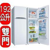 SANLUX台灣三洋【SR-B192B3】123公升雙門冰箱