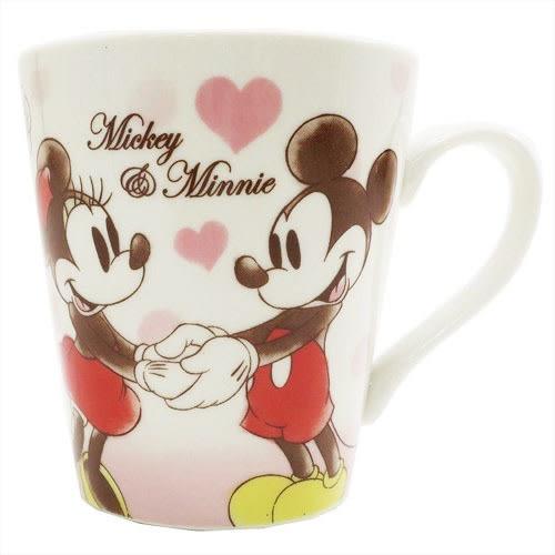 Hamee 日本正版 迪士尼 真摯友誼 好友馬克杯 陶瓷咖啡杯 禮物 (米奇 米妮) CY06525