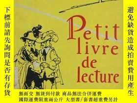 二手書博民逛書店俄文原版罕見法語讀本PETIT LIVRE DE LECTURE