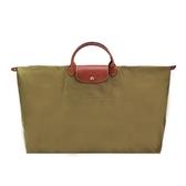【南紡購物中心】LONGCHAMP LE PLIAGE 短把手提旅行袋(特大/卡其綠)