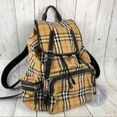 BRAND楓月 BURBERRY 大款 經典格紋 尼龍 後背包