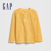 Gap男幼童 活力亮色亨利領長袖T恤 617810-黃色