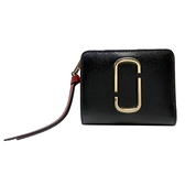 MARC JACOBS 紅色x黑色牛皮扣式短夾 Wallet Mini 【二手名牌BRAND OFF】