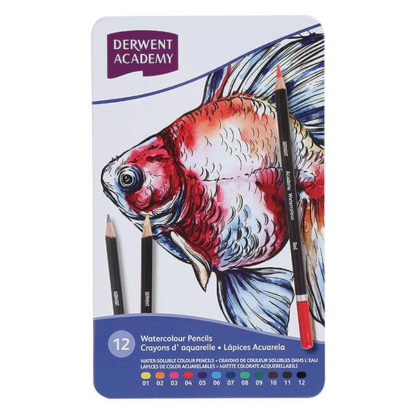 ACADEMY 水性色鉛筆12色鐵盒裝 2301941A