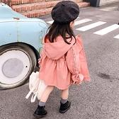 女童春秋裝風衣外套2019秋季新款女寶寶洋氣中長款上衣韓版衣服潮 【七七小鋪】