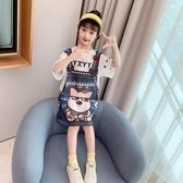 洋裝 女童連身裙夏裝2020新款洋氣中大兒童網紅短袖小女孩夏季公主裙潮 朵拉朵YC