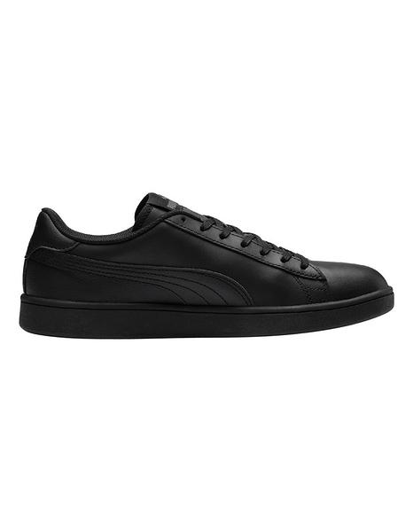 Puma Smash V2 L 男女全黑經典流行休閒復古鞋 No.36521506