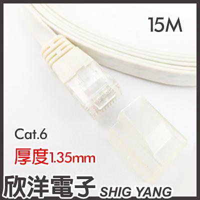 Twinnet Cat.6扁平網路線 15M / 15米 附測試報告 台灣製造 (02-01-4015)