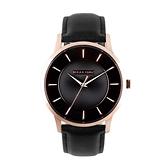 【Relax Time】Classic經典系列立體波紋時尚腕錶-經典黑(大)/RT-88-5M/台灣總代理公司貨享一年保固