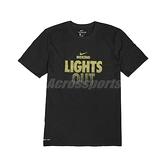 Nike 短袖T恤 M Boxing Lights Out Tee 黑 金 男款 短T 拳擊 運動休閒 【ACS】 561416010B-XL7