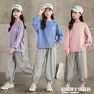 女童秋裝運動套裝2020春秋新款中大童洋氣兒童韓版寬鬆衛衣兩件套 設計師生活