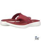 SKECHERS 新竹皇家 ON THE GO 紅色 布質 輕量 拖鞋 女款 NO.I8394