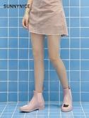 S水鞋女防水雨靴成人短筒雨鞋女時尚款外穿韓國膠鞋可愛水靴防滑