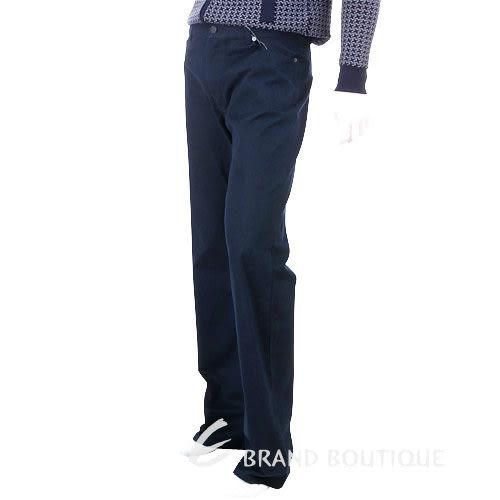 MOSCHINO 金屬釦飾休閒長褲(深藍色) 0510251-34