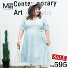 甜美碎花雪紡 渡假洋裝淡淡的藍 + 碎花 美翻了渡假去 約會中 hen可以  收腰更顯瘦唷~