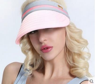 太陽帽女夏天戶外韓版遮陽帽防曬沙灘帽大沿可折疊防紫外線涼帽子 -uai0026