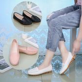 軟皮白色春季平底防滑平跟軟底工作圓頭淺口護士鞋 OR173『伊人雅舍』