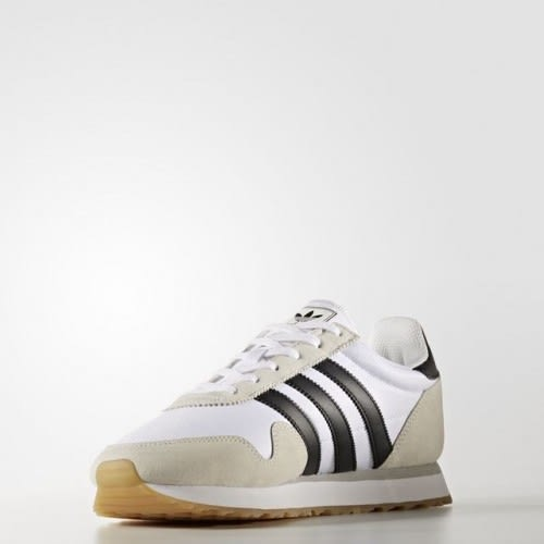 *adidas 休閒慢跑鞋 Haven 白 黑 麂皮 復古 膠底 運動鞋 男鞋 BY9713