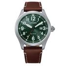 CITIZEN 星辰 光動能休閒 手錶(BM6838-25X) 綠/42mm