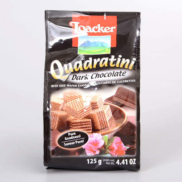 義大利【萊佳LOACKER】哈斯餅(黑巧克力)125g