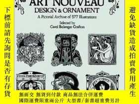 二手書博民逛書店Treasury罕見of Art Nouveau Design