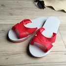 台灣製造-橡膠H拖-藍白拖鞋 - 正紅 (紅白拖鞋)