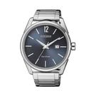 【Citizen星辰】GENT'S光動能時尚簡約紳士腕錶-質感藍灰/BM7411-83H/台灣總代理公司貨享兩年保固