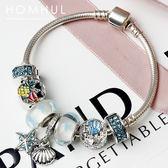 『潮段班』【SWH00004】夏季海洋風潘朵拉風格歐美混搭風個性水晶串珠 手鍊
