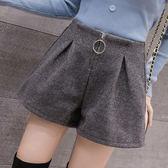 【降價兩天】短褲時尚休閒顯瘦 拉鏈a字闊腿靴褲潮